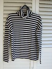 J.CREW RELAXED FIT COTTON TURTLE-NECK Size S - M see meas..