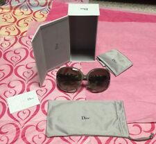 CHRISTIAN DIOR VIRE VOLTE 09GDB LIMITED EDITION Oval Sunglasses Shiny Beige Gold