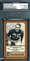 BRUISER KINARD 1975 FLEER ULTIMATE ROLL SIGNED PSA/DNA AUTHENTIC AUTOGRAPH