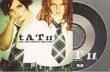 TATU T.A.T.U All The Things She Said CD PROMO france french card sleeve