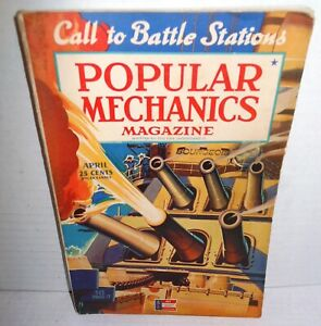WW2 ISSUE Popular Mechanics Magazine April 1942 op