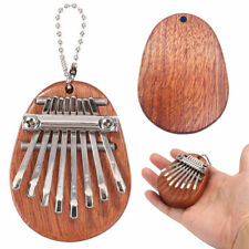 More details for 8 keys mini kalimba sansula thumb piano mbira solid wooden gift toy with lanyard