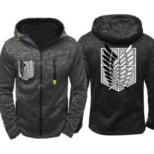 Attack on Titan Eren Jaeger Hoodie Casual Sweatshirt Warm Jacket Hooded Coat