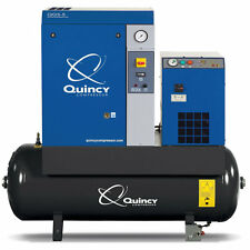 Quincy QGS 5-HP 60-Gallon Rotary Screw Compressor w/ Dryer (230V 1-Phase)