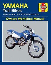 Yamaha PW50/80, TTR90/250, XT225/350 Repair Manual 1981-2016