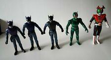 Vintage Kamen Rider Figures: Kamen Rider Stronger (5 In Set Open, No Packaging)