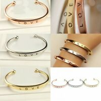 Fashion Women's Stainless Steel Screw Head Love Cuff Bangle Bracelet Wedding new