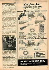 1970 ADVERT Bland & Bland Die Cast Metal Cap Guns Secret Agent Pistol Rifle