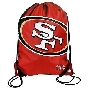 San Francisco 49ers Back Pack/Sack Drawstring Bag/Tote NEW Backpack BIG LOGO