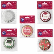 Wilton 75pc Happy Holidays Christmas Standard Cupcake Muffin Baking Cup Cases