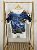 VTG Jimmie Johnson Nascar All Over Print Dominating The Competition T-Shirt Sz L