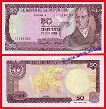 COLOMBIA 50 Pesos oro 1986 Pick 425b  SC / UNC