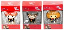 2016 Hallmark Harry Potter Ron Weasley Hermione Granger 3 Ornament Set