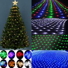 96/200 LED Fairy String Xmas Tree Net Mesh Curtain Light Lamp Outdoor Waterproof