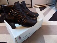 NEW Leather Hush Puppies Buckle Trim Ankle boots Kalee uk 3EE