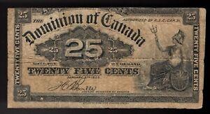 1900 Dominion Of Canada 25 Cents Boville DC-15-b (#5)