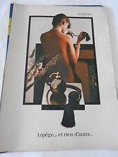 PUBLICITE 1982  Parfums Lanvin Arpège...et rien d'autre