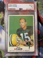 1969 Topps #215 Bart Starr Packers PSA 5 EXHOF