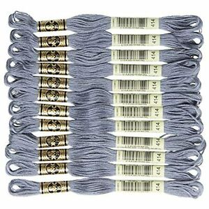 DMC 6-Strand Embroidery Cotton Floss, Dark Steel Grey