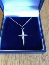 Nuvo Sterling Silver Cross & Silver Chain