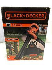 BLACK+DECKER 12-Amp 400-CFM 250-MPH Corded Electric Leaf Blower Vacuum Mulcher