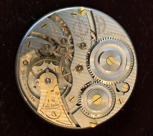 Illinois Gr-406, 19j. 12sz. pocket watch Mvmt/Dial Runs!