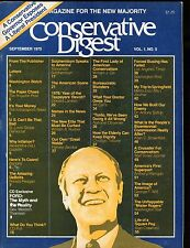 Conservative Digest Magazine September 1975 Gerald Ford EX No ML 010517jhe