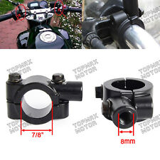 "8mm 7/8"" Motorcycle Handlebar Mirror Mount Bracket Holder Adapter Clamp ATV UTV"