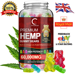60 Natural Hℇmp Seed Oil Gummies for PainInsomnia Anxiety Depression Sleep
