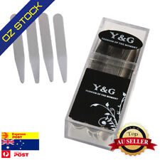 """Mens Collar Stays for Shirts Silver Soild Stainless Steel 24pcs 2.5"""" Y&G CS3018"""