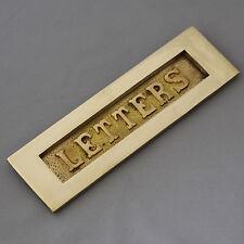 stile edoardiano ottone 'LETTERE' Cassetta della posta