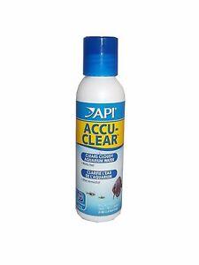 API Accu Clear 118ml Aquarium Cloudy Water Clarifier Accu-Clear
