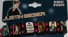 New JUSTIN BIEBER Stretch BRACELET (KEEP CALM AND BELIEB) FREE Fast SHIP