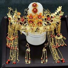 Retro Chinese Style Bride Wedding Hair Ornaments Crown Headdress+Earrings Set