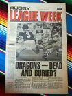 ✺RUGBY LEAGUE WEEK✺ 1978 Vol 9 No 10 ST GEORGE DRAGONS Rod Reddy NRL Big