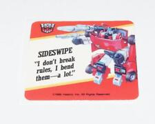 Sideswipe Transformers Action Trading Card Motto Sticker Insert 1985 G1 Hasbro