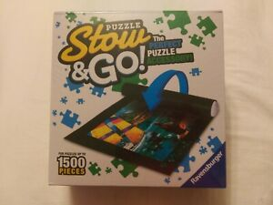 """Ravensburger Puzzle Stow & Go! Roll Up Storage Mat 46"""" x 26"""" NEW and Sealed"""
