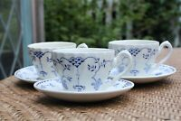 3 Vintage BLUE DENMARK Franciscan  Tea / Coffee Cups & Saucers England