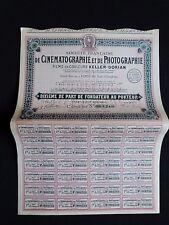 Action 1928 Société française de CINÉMATOGRAPHIE et PHOTOGRAPHIE Keller Dorian