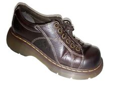Dr Martens England Womens Brown Leather Oxfords AW004 Shoes US 7 | UK 5