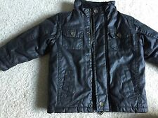 Pumpkin Patch Sz 2 Toddler Boys Winter Fall Faux Leather Black Lined
