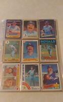 Dan Quisenberry Baseball Card Mixed Lot approx 126 cards