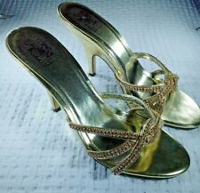 Special Occasions By Saugus Women's Shoes Gold Multi/Stones Design Pumps size 9B
