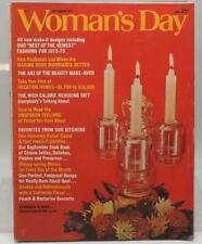 Woman's Day Magazine September 1972 Vintage Ads Fashion Beauty Needlework