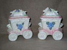 Victorian Carriage Coach Trinket Box-2-Flowers Butterfly Dragonfly-Pink Luster