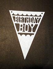 Scrapbooking - craft - card making - embellishment - birthday boy flag