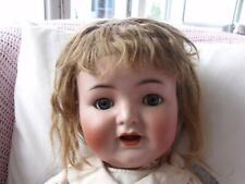 ANTIQUE LARGE SIMON & HALBIG K&R 126 PERFECT BISQUE HEAD JOINTED BABY DOLL