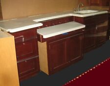 Dressing Room Vanity with Sink and Additional Upper Cabinets