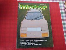 MODERN MOTOR CAR MAGAZINE - OCTOBER 1980