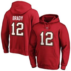 Tampa Bay Buccaneers Hoodie Men's NFL Tom Brady 12 Hoodie - New